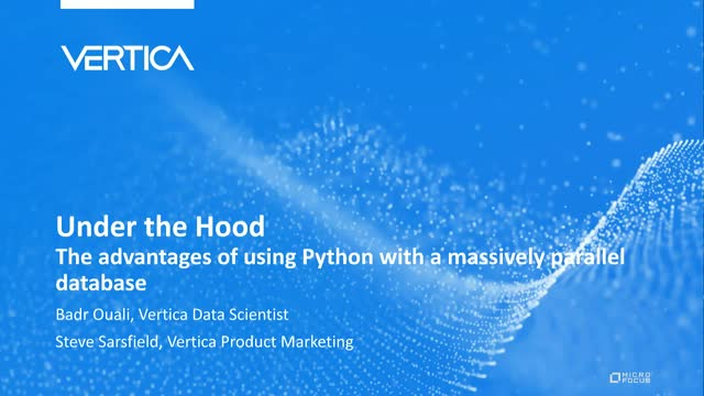 Under the Hood: Advantages of using Python with a massively parallel database