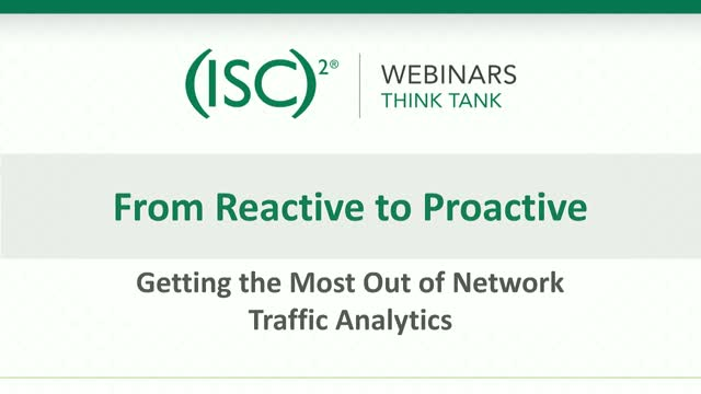 From Reactive to Proactive - Getting the Most Out of Network Traffic Analytics