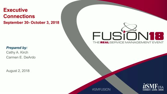 Learn About Executive Connections at FUSION18