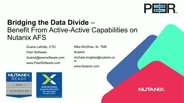 Active-Active File Services for the Nutanix Enterprise Cloud