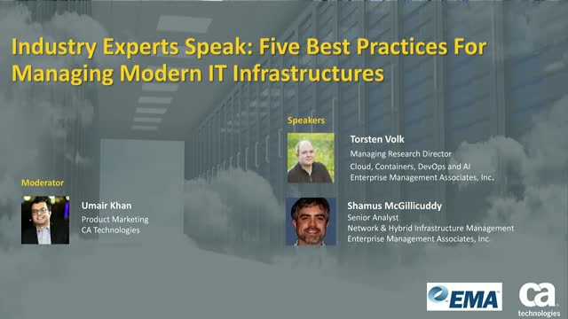 Industry Experts Speak: 5 Best Practices For Managing Modern IT Infrastructure