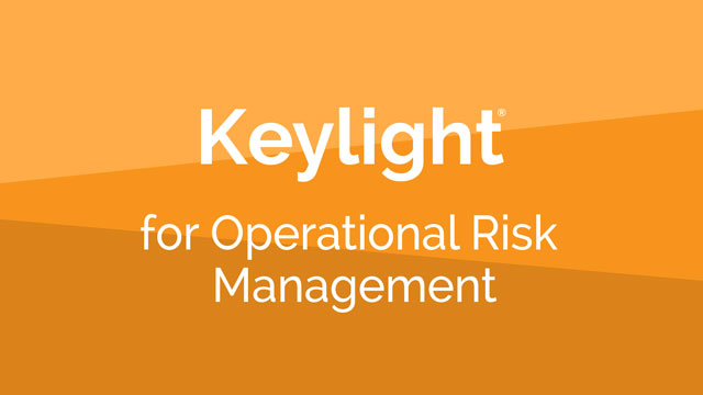 Operational Risk Management with the Lockpath Keylight Platform