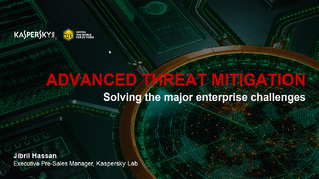 Kaspersky Technical Talks Series - KATA / EDR Part 1