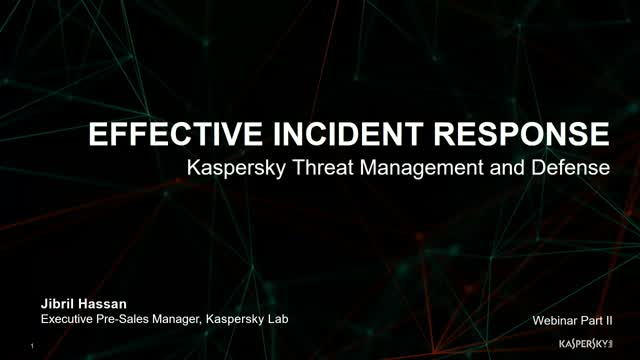 Kaspersky Technical Talks Series - KATA / EDR Part 2