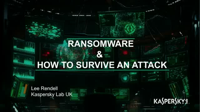 How to Survive a Ransomware Attack