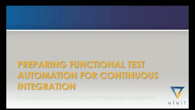 Q&T SIG Talk Series Ep.18: Functional Test Automation for Continuous Integration
