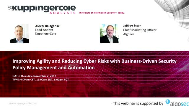 Improving Agility and Reducing Cyber Risks