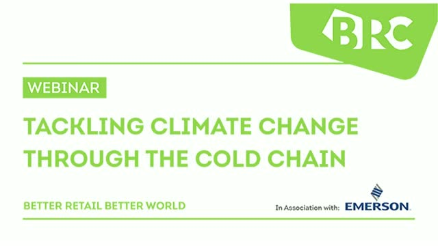 Tackling Climate Change through the Cold Chain Webinar