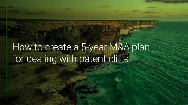 How to create a 5-year M&A plan for dealing with patent cliffs