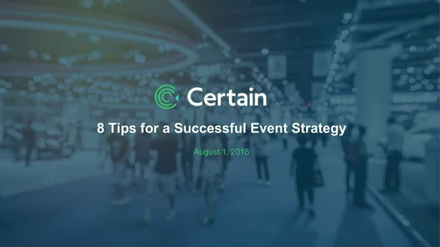 The Top 8 Tips for a Successful Event Strategy