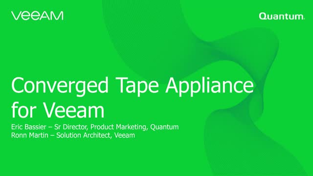 Converged Tape Appliance for Veeam