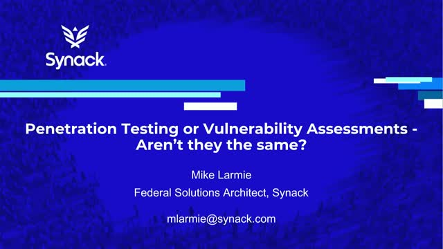 Penetration Testing or Vulnerability Scanning - Aren't they the same thing?