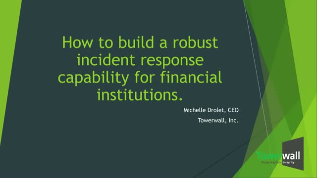 How to Build a Robust Incident Response Capability for Financial Institutions