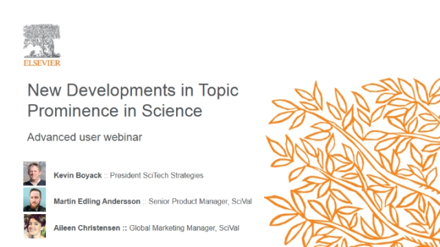 Where am I a Key Contributor? & other Topic Prominence in Science developments