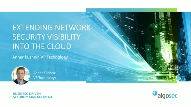 Extending Network Security Visibility into the Cloud