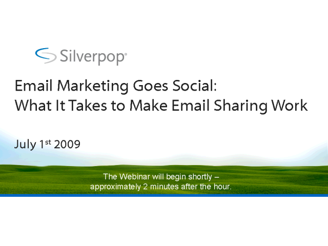 Email Marketing goes Social: What It Takes to Make Email Sharing
