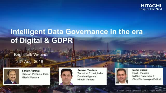 Intelligent Data Governance in the era of Digital and GDPR