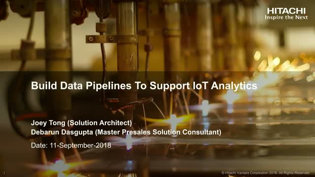 Build Data Pipelines To Support IoT Analytics
