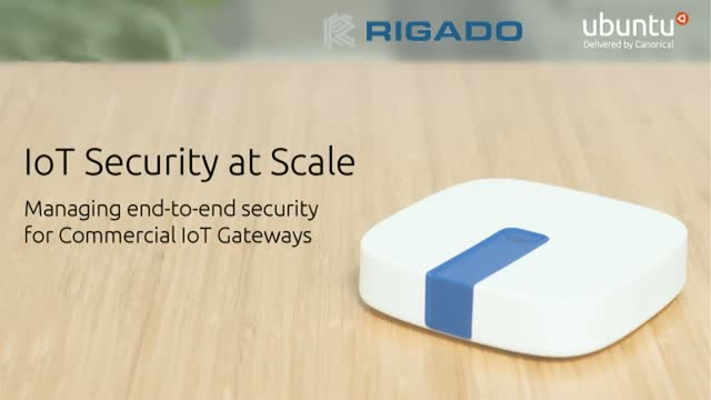 IoT Security at Scale: Managing end-to-end security for Commercial IoT Gateways