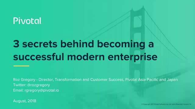 The 3 Secrets of Successful, Modern Enterprises