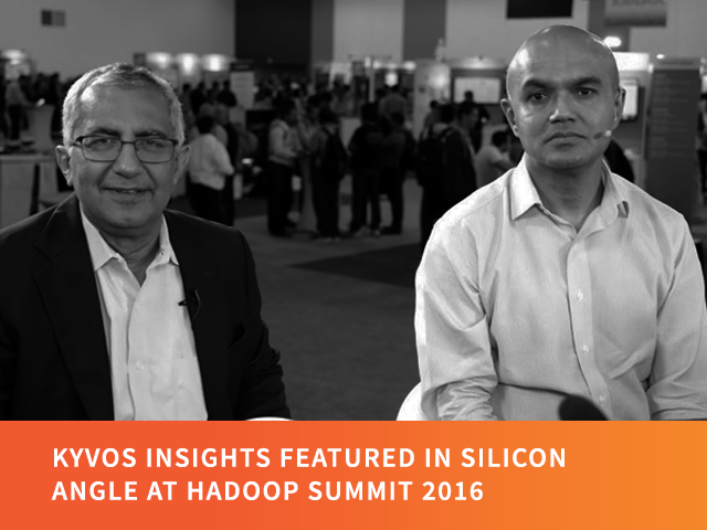 Kyvos Insights featured in Silicon Angle at Hadoop Summit 2016