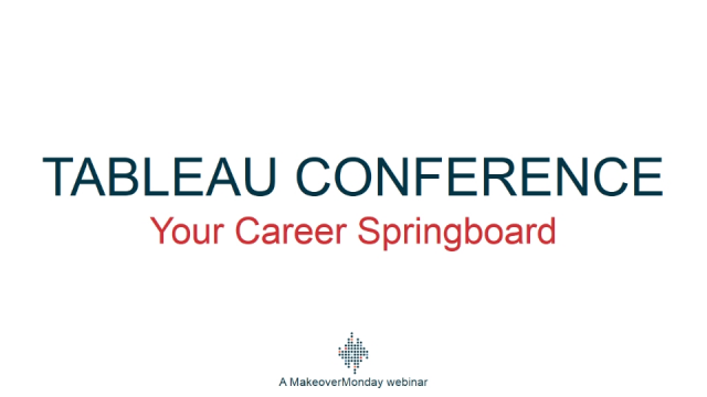 Tableau Conference - Your Career Springboard