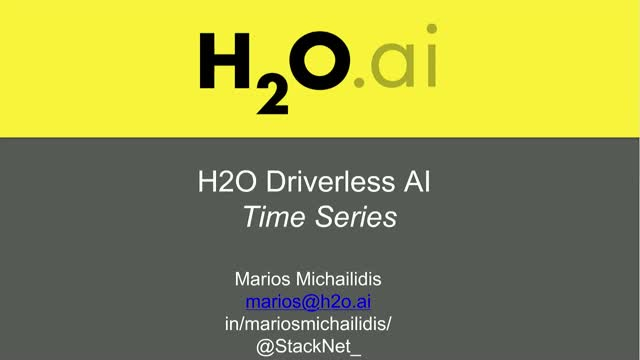 Time-Series in Driverless AI