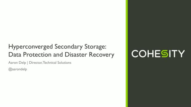 Delivering Simplicity and Instant Recovery through Modern Storage