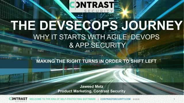 The DevSecOps Journey: Why It Starts with Agile DevOps & App Security