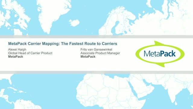 MetaPack Carrier Mapping Demo
