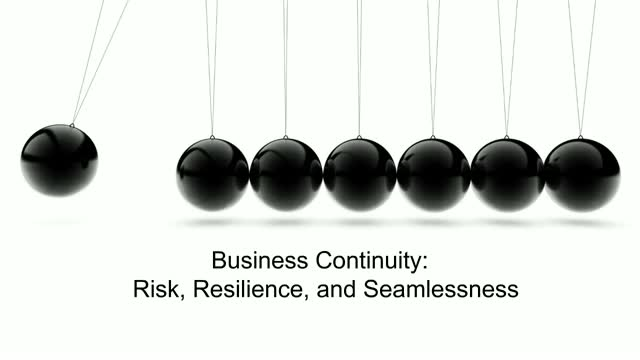 Business Continuity: Risk, Resilience, and Seamlessness