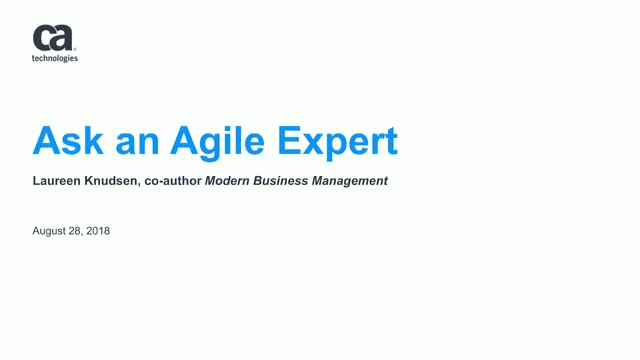 Virtual Discussion: Ask an Agile Expert