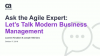 Ask an Agile Expert: Let's Talk Modern Business Management