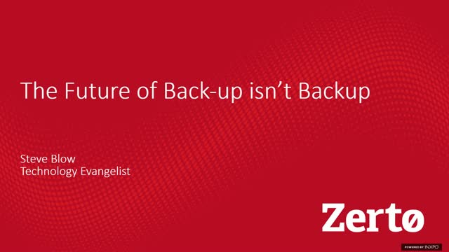The Future of Backup Isn't Backup