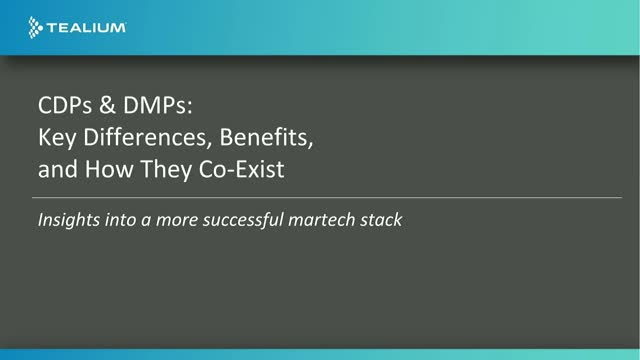 CDPs and DMPs: Key Differences, Benefits and How They Co-Exist