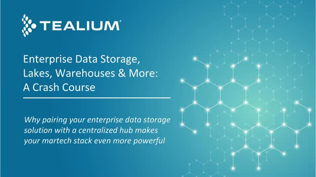 Enterprise Data Storage, Lakes, Warehouses & More: A Crash Course