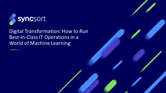How to run best-in-class IT Operations in a world of Machine Learning