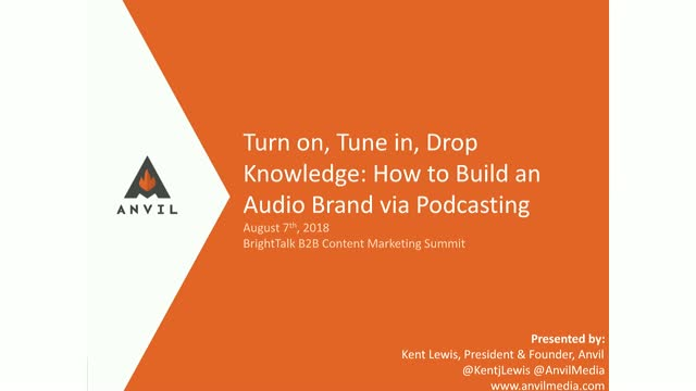 Turn on, Tune in, Drop Knowledge: Build Your Brand via Podcasting