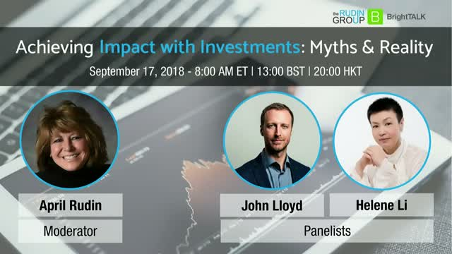 Achieving Impact with Investments - Myths & Reality