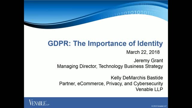 GDPR: The Importance of Identity