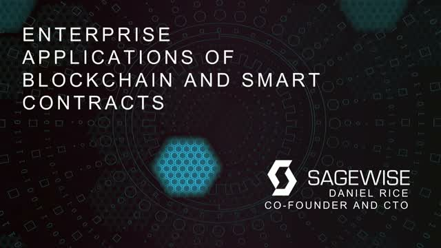 Enterprise Applications of Blockchain and Smart Contracts
