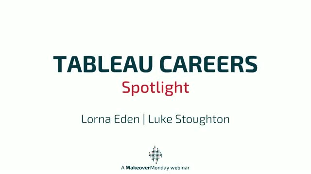 Tableau Careers Spotlight - Lorna Eden and Luke Stoughton