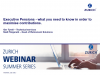 Executive Pensions - Zurich Summer Series