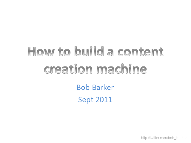 How to Build a Content Creation Machine