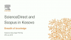 ScienceDirect and Scopus in Kosovo