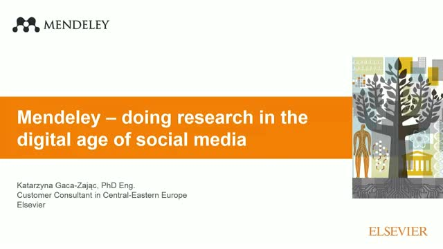 Mendeley: doing research in the digital age of social media