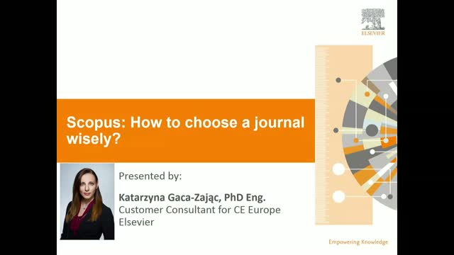 Scopus: how to choose a good journal wisely?