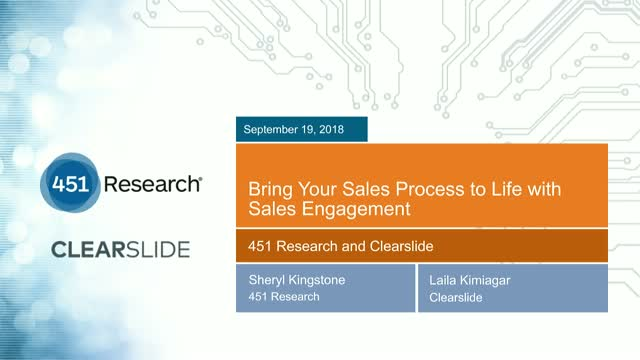 Bring Your Sales Process to Life with Sales Engagement