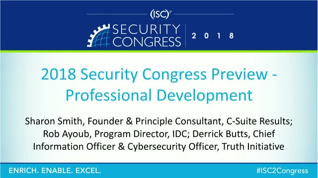 2018 Security Congress Preview - Professional Development