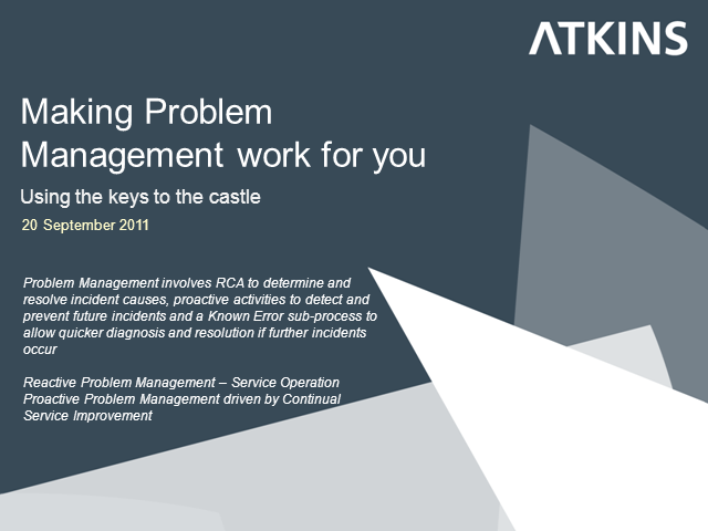 Making Problem Management Work for You